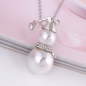 Jewelry - Pearl & Crystal Snowman Necklace